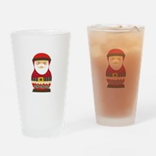Santa Russian Doll Drinking Glass