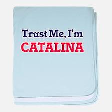 Trust Me, I'm Catalina baby blanket