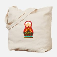 Christmas Doll Tote Bag
