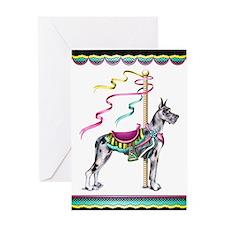 Great Dane Merle Carousel Greeting Card