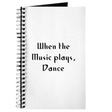 When the Music plays, Dance Journal