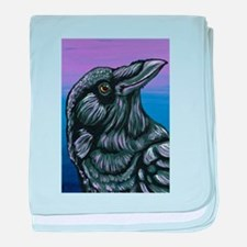 Purple Crow Raven baby blanket