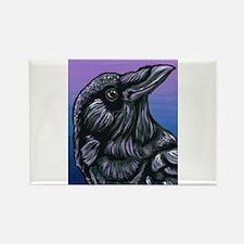 Purple Crow Raven Magnets