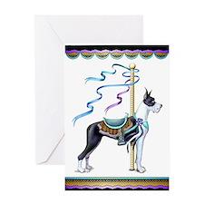Great Dane Mantle Carousel Greeting Card