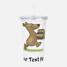 Bear With Soup (Custom) Acrylic Double-wall Tumble