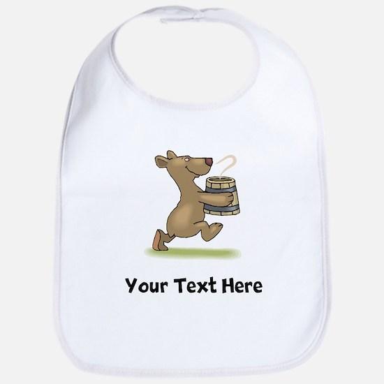 Bear With Soup (Custom) Bib