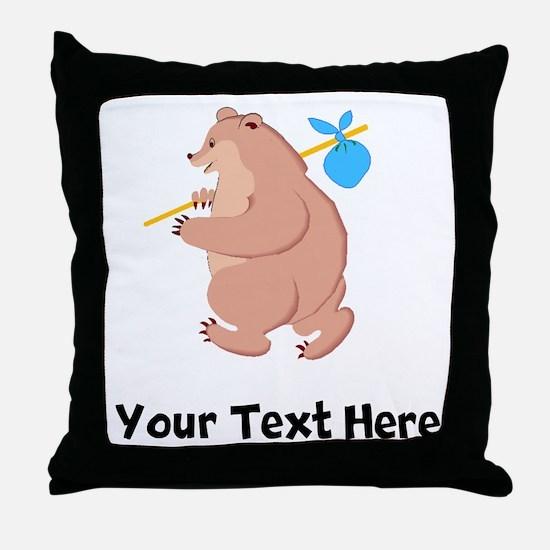 Bear Hitchhiking (Custom) Throw Pillow
