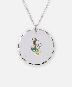 Mermaid On Anchor Necklace