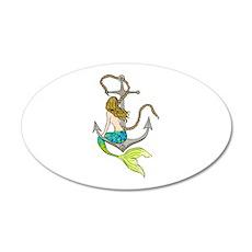 Mermaid On Anchor Wall Decal