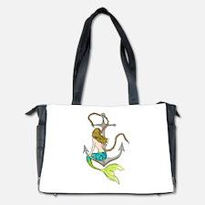 Mermaid On Anchor Diaper Bag