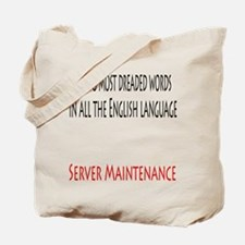 Server Maintenance Tote Bag