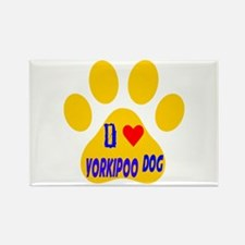 I Love Yorkipoo Dog Rectangle Magnet