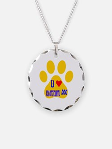 I Love Xoloitzcuintli Dog Necklace