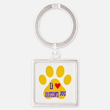 I Love Xoloitzcuintli Dog Square Keychain