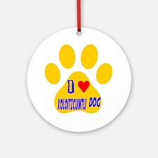 I Love Xoloitzcuintli Dog Round Ornament