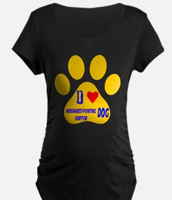 I Love Wirehaired Pointing T-Shirt