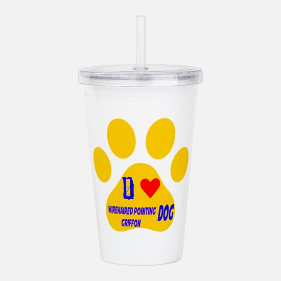 I Love Wirehaired Poin Acrylic Double-wall Tumbler