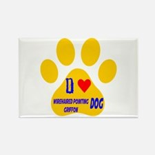 I Love Wirehaired Point Rectangle Magnet (10 pack)