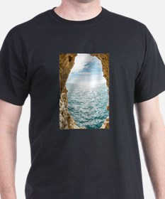 Window of opportunity - view from a cave a T-Shirt