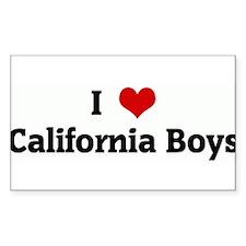 I Love California Boys Rectangle Decal