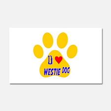 I Love Westie Dog Car Magnet 20 x 12