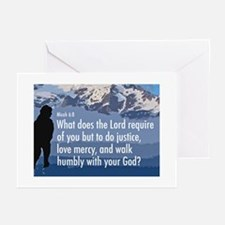 Micah 6:8 Greeting Cards