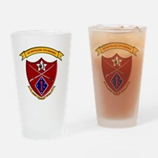 Funny 1st battalion 4th marines Drinking Glass