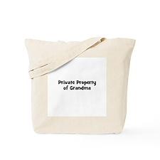 Private Property of Grandma Tote Bag