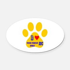I Love Treeing Tennessee Brindle D Oval Car Magnet