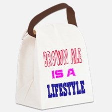 Brown Ale Is A LifeStyle Canvas Lunch Bag