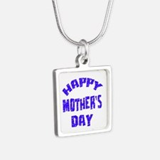 Happy Mother's Day Designs Silver Square Necklace