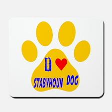 I Love Stabyhoun Dog Mousepad