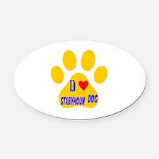 I Love Stabyhoun Dog Oval Car Magnet