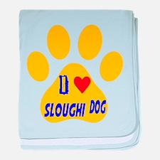 I Love Sloughi Dog baby blanket