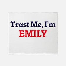 Trust Me, I'm Emily Throw Blanket