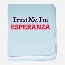 Trust Me, I'm Esperanza baby blanket