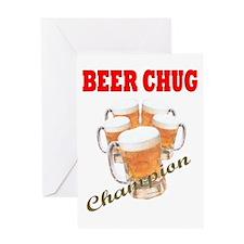 BEER CHUG Champion Greeting Card
