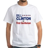 Bill clinton first gentleman Mens White T-shirts
