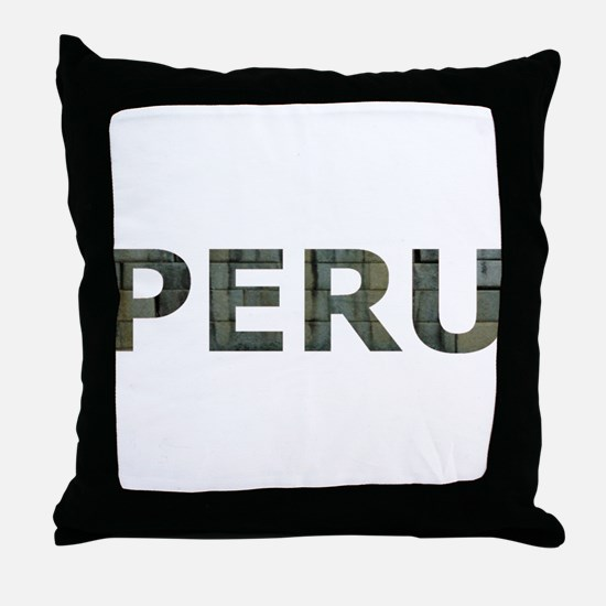 INCA STONEWORK PERU  Throw Pillow