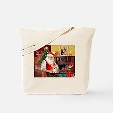 Santa's Corgi Puppy Tote Bag