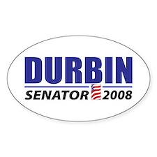 Dick Durbin Oval Decal