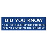 Anti hillary clinton Bumper Stickers