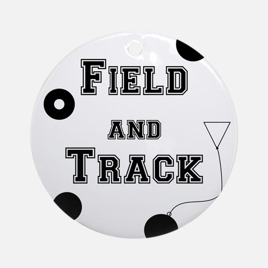Field And Track Thrower Round Ornament
