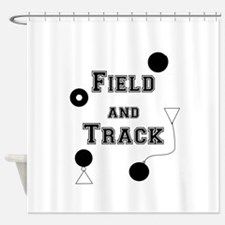 Field And Track Thrower Shower Curtain