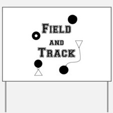 Field And Track Thrower Yard Sign