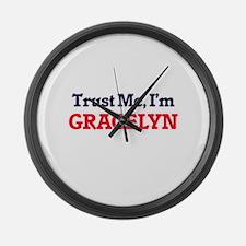Trust Me, I'm Gracelyn Large Wall Clock