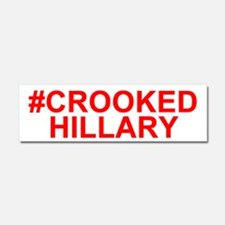 Crooked Hillary Car Magnet 10 X 3