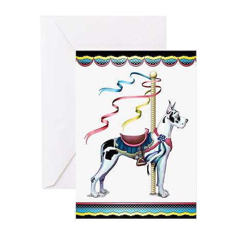 Great Dane Harle Carousel Greeting Cards (Pk of 20