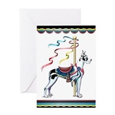 Great Dane Harle Carousel Greeting Card