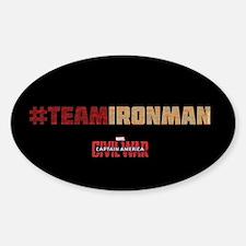 Hashtag Team Iron Man Text - Captai Decal